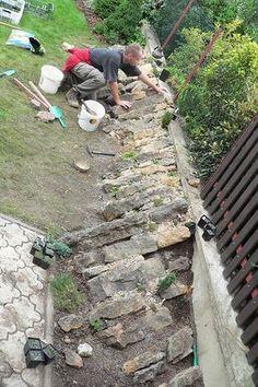 Realizace skalky Stone Landscaping, Landscaping With Rocks, Outdoor Landscaping, Back Gardens, Outdoor Gardens, Buddha Garden, Gravel Garden, Rockery Garden, Alpine Garden