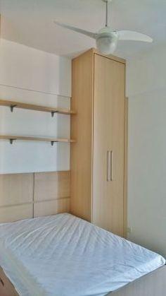 Apartamento de 3 dormitórios, suite, mobiliados, armarios embutidos, piso de porcelanato, novo,