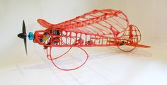 Incredible Remote Control Plane and Car Created with 3Doodler  3D Printing Pen. http://3dprint.com/6397/3doodler-plane-car/