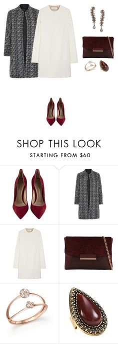 """""""Untitled #453"""" by elenekhurtsilava ❤ liked on Polyvore featuring Gianvito Rossi, By Malene Birger, Victoria Beckham, ALDO, Bloomingdale's, Samantha Wills and Erickson Beamon"""