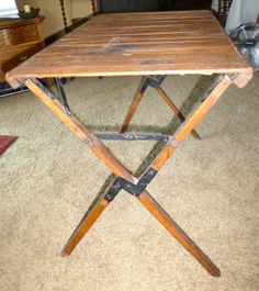 Wood Camping Table Google Search