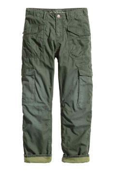 Pantalon cargo doublé | H&M