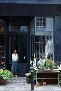 Warp and Weft Styling - the old town Hastings - love the way the plants are brought out on to the pavement of this lovely shop