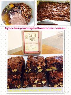 YIAH Salted Maple Pecan Triple Choc Fudge Brownies