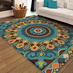 Carolina Weavers Indoor/Outdoor Santa Barbara Collection Bangkok Multi Area Rug (5'2 x 7'6)