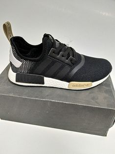 4a6587255 Adidas NMD Runner Trainers Black Gold fashion shoes 2018 Shoe