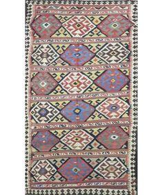 "Turkish Old Kilim Rug K-167-Design# 1071, Size- 5'-7"" X 10'-4"" #livingroom #diy #handmade #best #cleaning #modern #design #runner #print #carpet #rugs #flooring #office #home #decoration #bedroom"