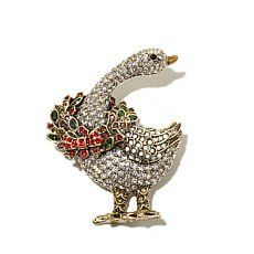 "Heidi Daus ""What's Good for the Goose"" Crystal Pin"