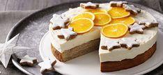 Baumkuchentorte mit Orangencreme - SweetFamily von Nordzucker Orange Creme, Bruchetta, Bakery, Cheesecake, Pudding, Sweet, Desserts, Christmas, Stollen