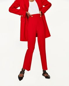 Image 2 of TROUSERS WITH FLARED HEM from Zara
