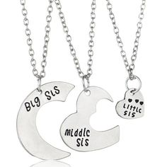Big-Middle-Little Sis Necklace