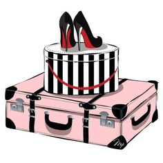 ♥ ♥Louboutins, hat box, and vintage luggage!:)