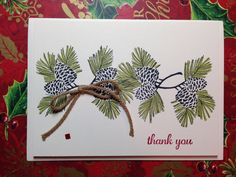 SUP! Autumn Days stamp set, Baked Brown Sugar Thick Twine, Olive Blendabilities. Great as hostess thank you gifts for the holidays.