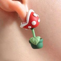 Super Mario Inspired Piranha Plant Earrings