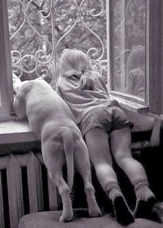 """Best friends from the bottoms of their heart. Whoever said, """"Diamonds are a girls best friend. Mans Best Friend, Girls Best Friend, Best Friends, Friends Forever, Funny Friends, Dog Friends, Sweet Animal, I Love Dogs, Puppy Love"""
