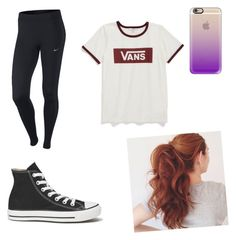 """""""Hip hop class"""" by michaelahc on Polyvore featuring NIKE, Converse, Vans and Casetify"""