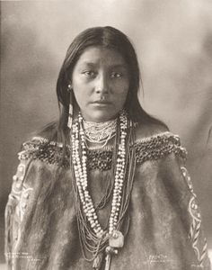 Pawnee Nation, unidentified young woman.  My paternal grandmother was Pawnee.