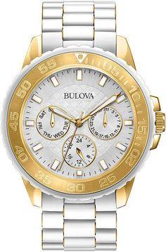 02499ee883cc Bulova Womens White Dial White Stainless Steel Bracelet Watch 98N102