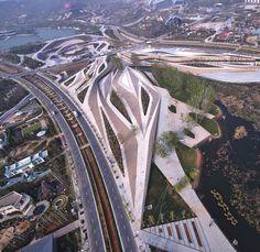 Centro de Servicio Earthly Pond para la Exposición Internacional de Horticultura 2014 / HHD_FUN
