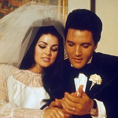 Elvis Presley and Priscilla Beaulieu