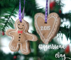 """Here's a recipe for making """"gingerbread"""" clay: use some to make ornaments for your tree!"""