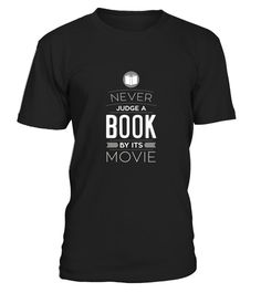 Never Judge A Book By Its Movie Funny Nerd Geek T Shirt  #tshirtsfashion #tshirtwomen #tshirtmen #tshirtprinting
