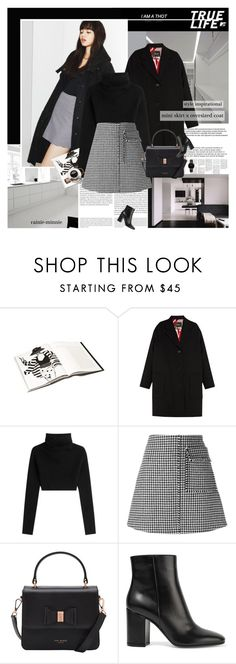 """""""Oversized Coat"""" by rainie-minnie ❤ liked on Polyvore featuring Oris, Nana', Isabel Marant, Valentino, J.W. Anderson, Ted Baker, Gianvito Rossi and Topshop"""
