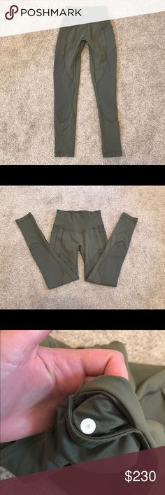 Lululemon All The Right Places * Luxtreme Material :: Fatigue Green * 28 inch inseam * No pilling. Practically new. Highly sought after color - Price is firm on here. Please keep in mind Posh takes a 20% fee from asking price. ☑️🅿️🅿️ - Will post more pictures upon request.  ** Will not sell to those who don't communicate or have any feedback / listing on page. Thank you. ** lululemon athletica Pants Leggings