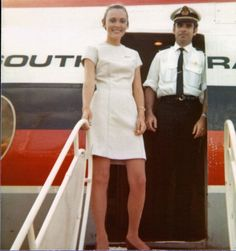 Ansett Airlines of Australia 1972 Australian Airlines, Airline Uniforms, Welcome Aboard, Aviation Industry, Cabin Crew, Vintage Travel Posters, Flight Attendant, Train Travel, Flaxseed