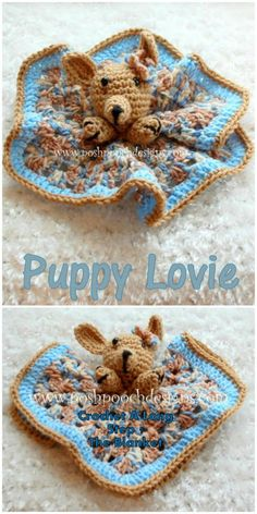Crochet A Long Starts Today – Puppy Lovie - 35 Free Crochet Lovey Patterns for Your Cute Baby - DIY & Crafts