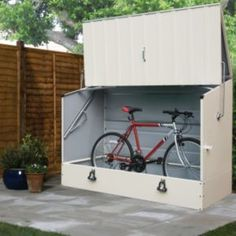 Shop for Trimetals Cream Outdoor Heavy Duty Steel Bicycle Storage Locker. Get free delivery On EVERYTHING* Overstock - Your Online Home Improvement Shop!