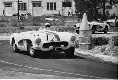 Corvette's first vistory in competition. Sebring 1956  Walt Hansgen co-drove with John Fitch who helped to develop the car for GM. They finished 9 overall and 1st in class.