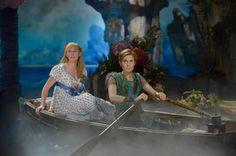 Taylor Louderman as Wendy Darling and Allison Williams as Peter Pan.