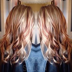 Red and blonde. Blonde and copper