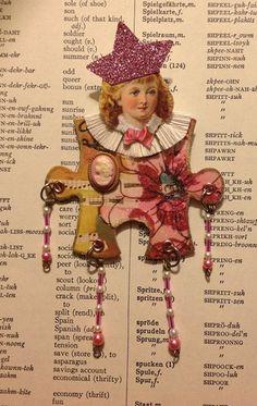 Paper Doll Altered Art Doll Handmade Puzzle Piece Doll Victorian Scrap Head | eBay