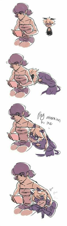 Pay Attention To Me by Clovercard on DeviantArt - Marinette and Cat Noir Meraculous Ladybug, Ladybug Comics, Lady Bug, Ladybug Und Cat Noir, Pay Attention To Me, Miraculous Ladybug Fan Art, Marinette And Adrien, Arte Disney, Kids Shows