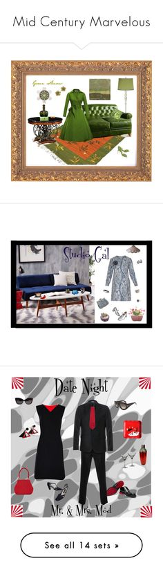 """""""Mid Century Marvelous"""" by anna-ragland ❤ liked on Polyvore featuring Universal Lighting and Decor, Anthropologie, Jonathan Charles Fine Furniture, Roger Vivier, Hermès, Normann Copenhagen, Home Decorators Collection, West Elm, La DoubleJ Editions and NDI"""