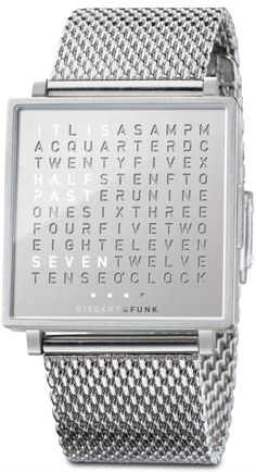Qlocktwo W Fine Steel Watch