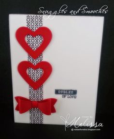 Stampin' Up! Bow Builder by Melissa Davies @ rubberfunatics