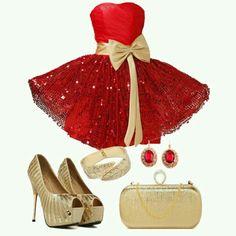 Rojo y Dorado bello