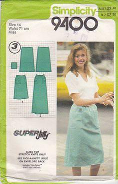 On Sale  1980s Simplicity  Pattern No 9400 for by jennylouvintage