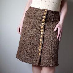 Crochet Tweed Skirt- PATTERNFISH - the online pattern store