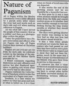 I LOVE THIS. Anyone who is Pagan should repin this over and over again!