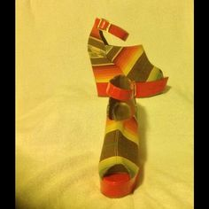 Bakers wedges Tribal print wedges, worn twice. Perfect for fall! Bakers Shoes