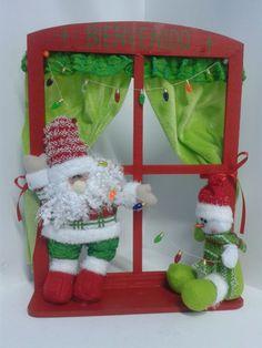 Adorno navideño Papa Noel y Hombre de Nieve. #DecoracionesNavidadMedellin #Navidad2013
