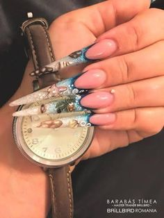 Stiletto Shaped Nails, Nagel Gel, Claws, Acrylic Nails, Nail Designs, Bling, Nail Art, French, My Favorite Things