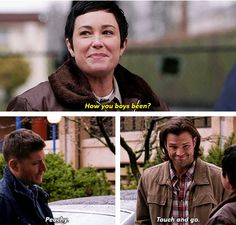 """Almost choked when Dean answered """"peachy"""". That's my answer whenever someone asks me this exact same question... I am so much like my favorite guy!"""