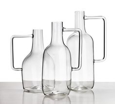 Boccia A collection of three bottles in borosilicated glass for Atipico.