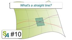 There's a fine line between straight and curved lines. What's a straight line (in a curved space)? Line S, Straight Lines, Science Nature