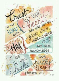 Provérbios 3:5-6 - Versículo Bíblico